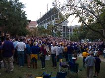 Fans tailgating during an LSU football game royalty free stock photos