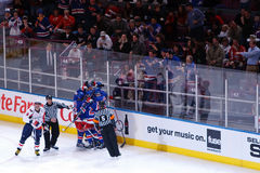 Fans Taunt Ovechkin. Rangers celebrate Ryan Callahan's 2nd goal of the night. Rangers fans taunt Alexander Ovechkin as he skates away from the celebration. The Stock Photo