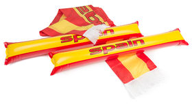 Fans Thundersticks - Spain Football Isolated Royalty Free Stock Image