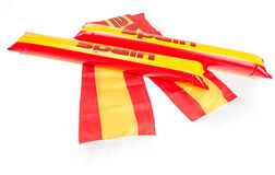 Fans Thundersticks - Spain Football Isolated Stock Photography