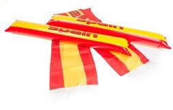 Fans Thundersticks - Spain Football Isolated Stock Photography