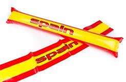 Fans Thundersticks - Spain Football Isolated Stock Photo