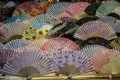 Fans traditionnelles au Japon Photographie stock libre de droits