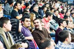 Fans at tribune Royalty Free Stock Image