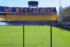 Fans tribune at Bombonera stadium. Royalty Free Stock Image