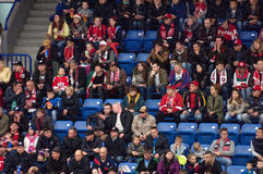 Fans on tribune Stock Photography