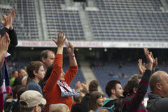 Fans at the Tribune Stock Photos
