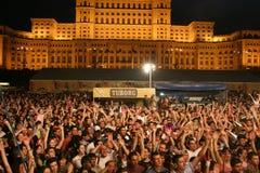 Fans at Tuborg Green Fest Stock Photo