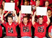 Fans : Types retardant de petits signes vides Images stock