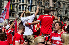Fans at the UEFA Champions League Finale in Munich Royalty Free Stock Photography