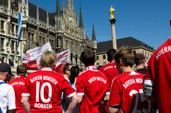 Fans at the UEFA Champions League Finale in Munich Royalty Free Stock Images