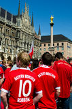 Fans at the UEFA Champions League Finale in Munich Stock Images