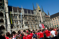 Fans at the UEFA Champions League Finale in Munich Stock Photo