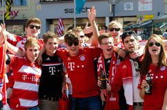 Fans at the UEFA Champions League Finale in Munich Stock Photos