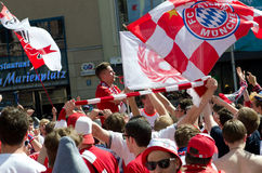 Fans at the UEFA Champions League Finale in Munich Royalty Free Stock Photo
