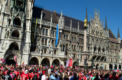 Fans at the UEFA Champions League Finale in Munich Stock Image