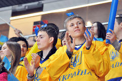 Fans from Ukraine applauds to the players Stock Images