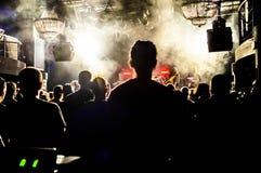 Fans under en konsert Arkivbild