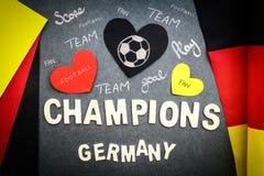 Fans vägg för tyskt fotbollslag Fotografering för Bildbyråer