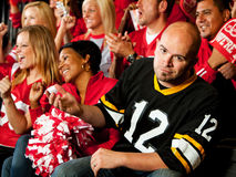 Fans: Visiting Team Fan Upset By Losing Plays Royalty Free Stock Image