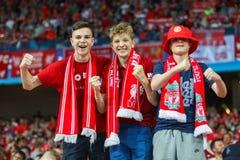 Fans von Englisch Liverpool lizenzfreie stockfotos