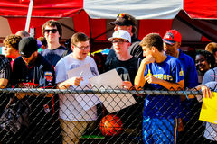 Fans waiting to get autographs Royalty Free Stock Image