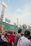 Fans watch a Red Sox game Stock Images