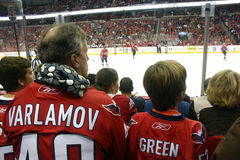 Fans watch the Washington Capitals Stock Photography