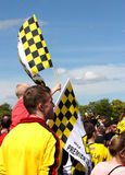 Fans Watfords FC Stockfotos