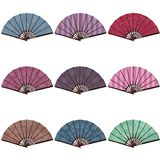Fans on white background Royalty Free Stock Photo