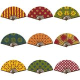 Fans on white background Royalty Free Stock Photography