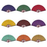 Fans on white background Royalty Free Stock Photos