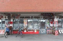 Fanshop FC St Pauli w Millerntor stadium, Hamburg Obraz Stock