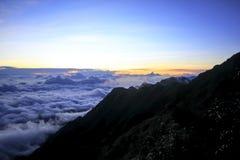 Fansipan is de hoogste berg in Vietnam royalty-vrije stock afbeelding