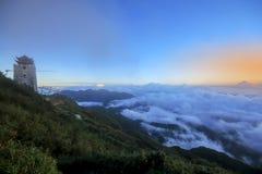 Fansipan is de hoogste berg in Vietnam stock afbeelding