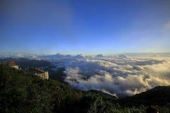 Fansipan is de hoogste berg in Vietnam stock afbeeldingen