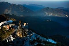 Fansipan högst berg av Indokina, Lao Cai landskapnorther Arkivfoton