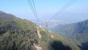 Fansipan Legend Cable Car Ride. Mount Fansipan, Sapa Vietnam stock image
