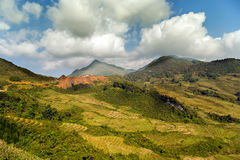 Fansipan mountain Stock Image