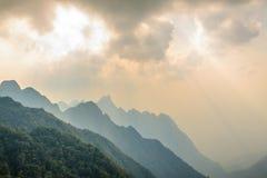 Fansipan mountain. At Lao cai province, Vietnam Stock Photos