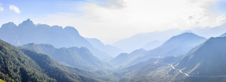 Fansipan mountain Royalty Free Stock Photography