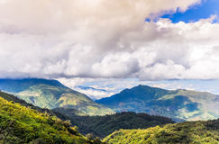 Fansipan Mountain. It is located in the Lào Cai province of Northwest Vietnam, 9 km southwest of Sa Pa Township in the Hoang Lien Son mountain range Royalty Free Stock Images