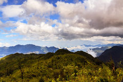Fansipan Mountain. It is located in the Lào Cai province of Northwest Vietnam, 9 km southwest of Sa Pa Township in the Hoang Lien Son mountain range Stock Images