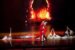 Fantôme d'homme--La magie magique historique de drame de chanson et de danse de style - Gan Po Images libres de droits