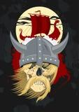 Fantôme de Viking avec le bateau. Photographie stock libre de droits
