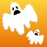 Fantômes effrayants décoratifs Image stock