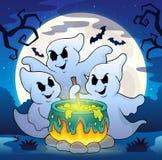 Fantômes remuant l'image 2 de thème de breuvage magique Photos stock
