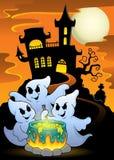 Fantômes remuant l'image 5 de thème de breuvage magique Images libres de droits