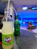 Fanta Bowling royalty free stock image