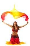fantail χορού κοστουμιών ασια&ta Στοκ φωτογραφία με δικαίωμα ελεύθερης χρήσης